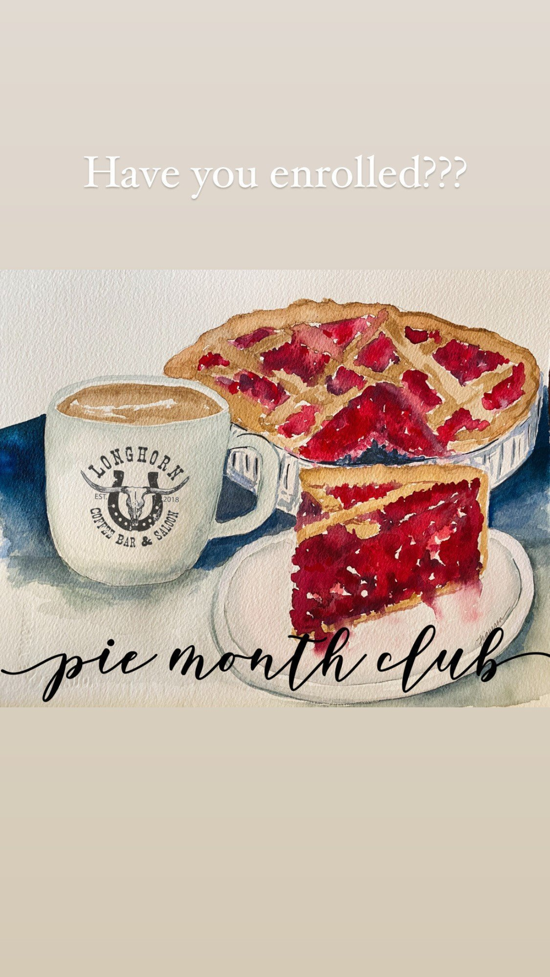 PIE & COFFEE MONTH CLUB